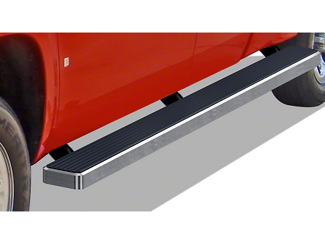 5-Inch iStep Wheel-to-Wheel Running Boards; Hairline Silver (99-06 Silverado 1500 Extended Cab w/ 6.50-Foot Standard Box)