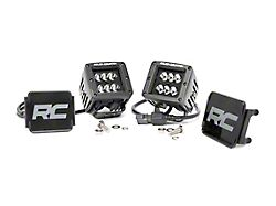 Rough Country 2-Inch Black Series LED Cube Lights; Spot Beam (Universal; Some Adaptation May Be Required)