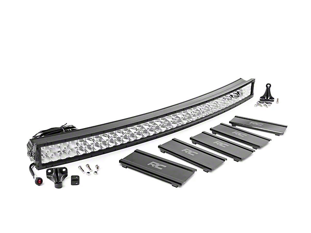 Rough Country 50-Inch X5 Series Curved Dual Row LED Light Bar; Flood/Spot Combo Beam