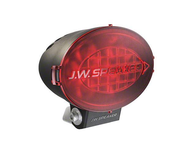J.W. Speaker 7.5 Inch Model TS3001V Oval LED Light Lens Cover; Red