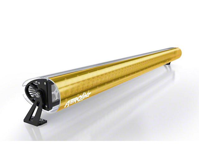 AeroX 52 Inch LED Light Bar Cover Transparent Insert; Amber