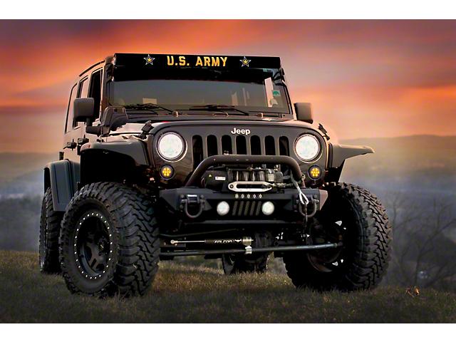 52-Inch LED Light Bar Cover Insert; U.S. Army
