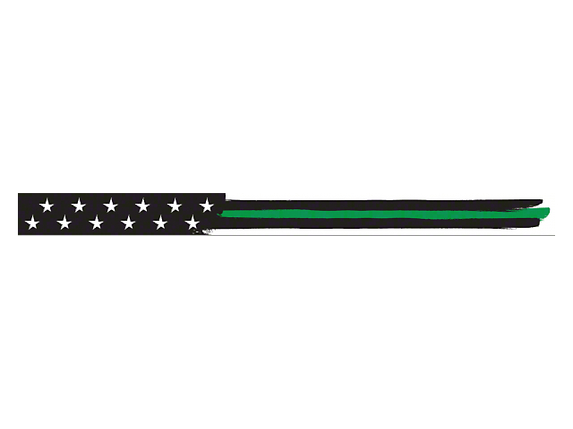 AeroX 52 Inch LED Light Bar Cover Insert; Green Thin Stripe American Flag