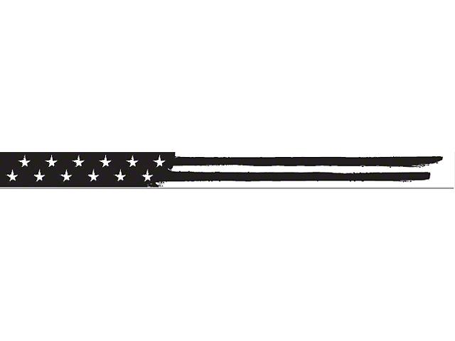 52-Inch LED Light Bar Cover Insert; Black and White American Flag