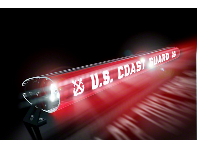 52-Inch LED Light Bar Cover Insert; U.S. Coast Guard
