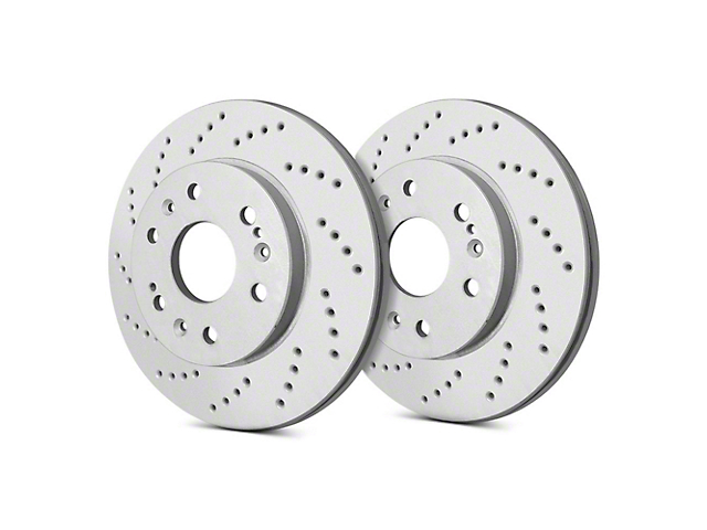 SP Performance Cross-Drilled 6-Lug Rotors w/ Silver Zinc Plating - Front Pair (99-06 Silverado 1500)