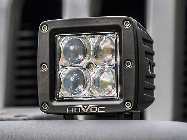 Havoc Offroad Trail Series LED Cube Lights; Spot Beam
