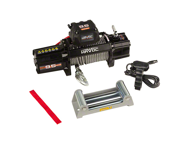 Havoc Offroad 9,500 lb. Winch with Steel Cable