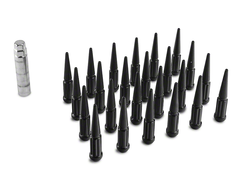 Coyote Black Spike Lug Nut Kit - 14mm x 1.5 (99-20 Silverado 1500)