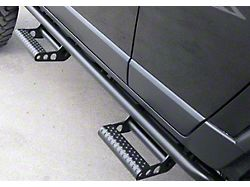 N-Fab Cab Length RKR Side Rails with Detachable Steps; Textured Black (19-22 Silverado 1500 Crew Cab)