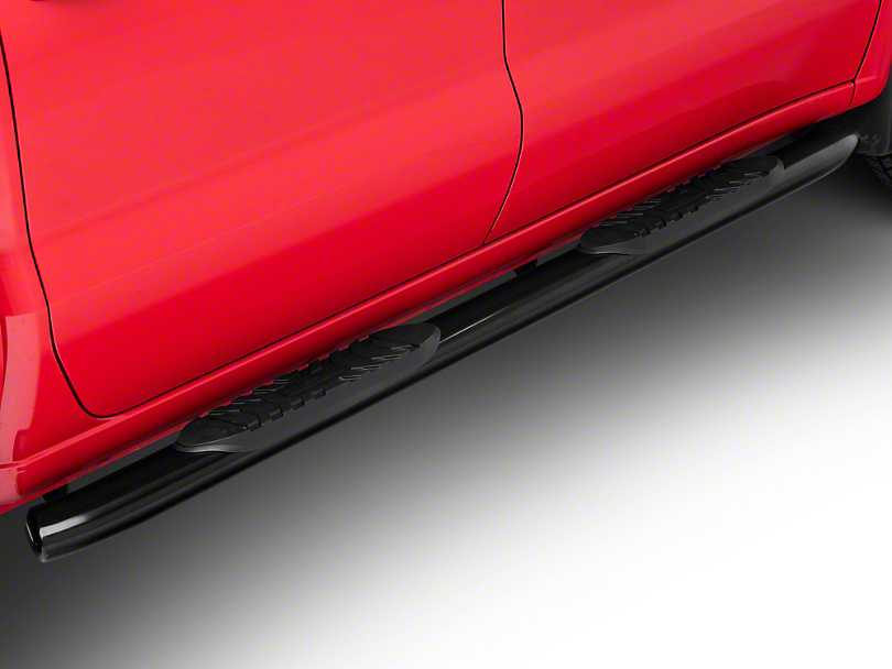 Duratrek 5 in. Oval Bent End Side Step Bars - Black (2019 Silverado 1500 Crew Cab)