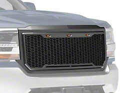 SpeedForm Baja Upper Replacement Grille w/ LED Lighting - Charcoal (16-18 Silverado 1500)