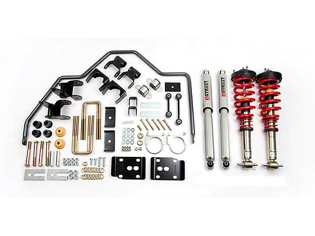 Belltech Performance Handling Lowering Kit - 1-3 in. Front / 4 in. Rear (07-18 Silverado 1500 w/ Short Box & Cast Aluminum or Cast Steel Control Arms)