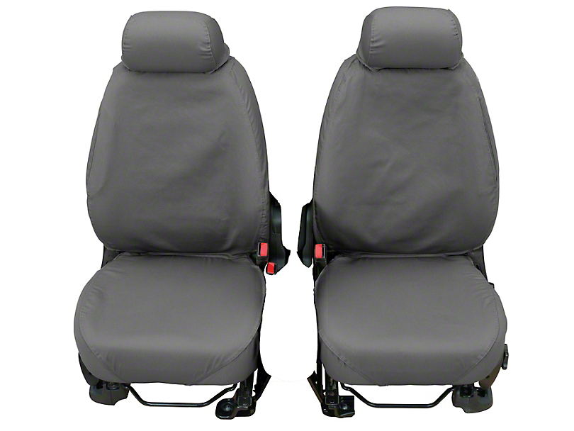 Husky Heavy Duty Front Row Seat Cover - Charcoal (17-18 Silverado 1500 w/ Bucket Seats)