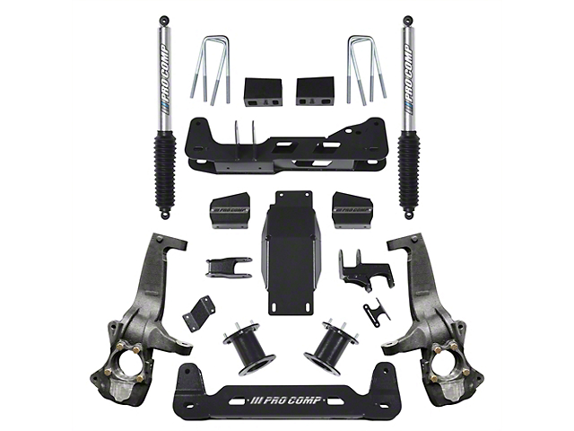 Pro Comp 6 in. Stage I Suspension Lift Kit w/ Pro Runner Shocks (2019 Silverado 1500, Excluding Trail Boss)