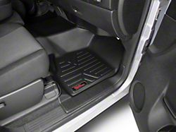 Rough Country Heavy Duty Front Over the Hump and Rear Floor Mats; Black (07-13 Silverado 1500 Extended Cab)
