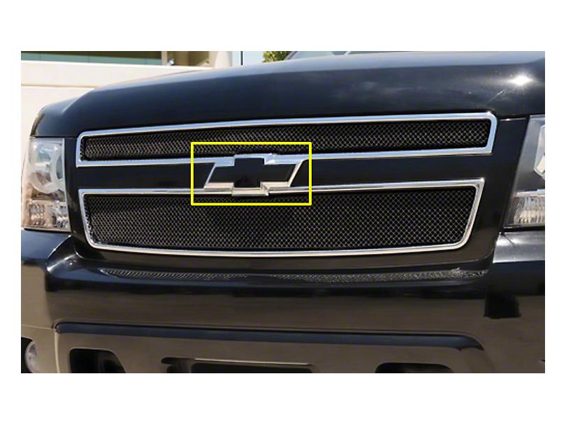 T-REX Front Black Billet Bowtie Emblem w/ Border (99-02 Silverado 1500)