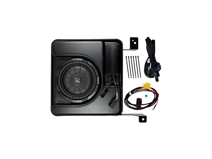 Kicker PowerStage Amplifier and Powered Subwoofer Upgrade Kit (07-13 Sierra 1500 Crew Cab w/ Base Audio)
