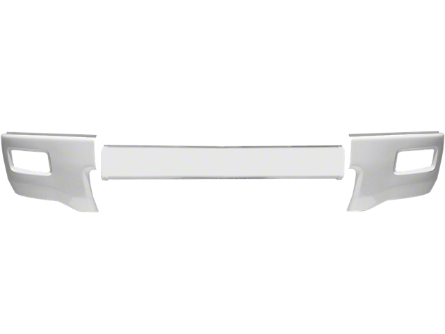 Front Bumper Cover with Fog Light Openings; Gloss White (14-15 Silverado 1500)