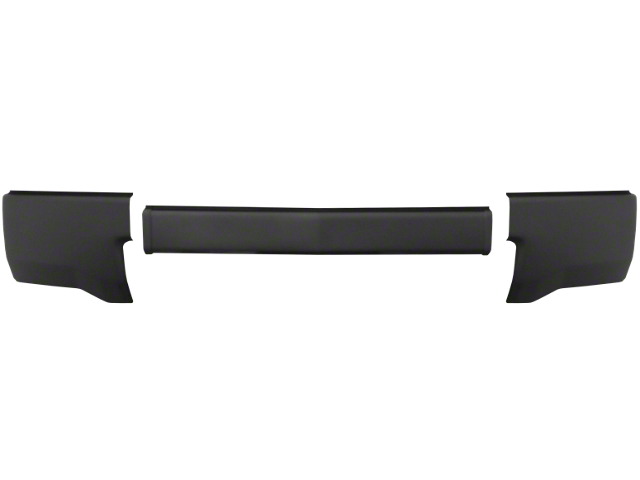 Front Bumper Cover without Fog Light Openings; Matte Black (14-15 Silverado 1500)