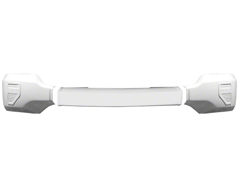 BumperShellz Front Bumper Cover w/o Fog Light Openings - Gloss White (16-18 Silverado 1500)