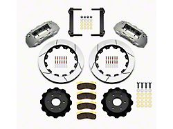 Wilwood TX6R Front Big Brake Kit with Slotted Rotors; Anodized Silver Calipers (99-18 Silverado 1500)