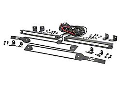 Rough Country Dual 10-Inch Chrome Series LED Grille Kit (19-21 Silverado 1500, Excluding Custom, Trail Boss & WT)