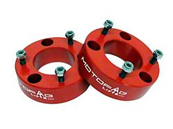 MotoFab 2.50-Inch Front Leveling Kit; Red (07-22 Silverado 1500, Excluding Trail Boss)
