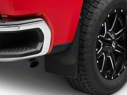 Weathertech No-Drill Mud Flaps; Rear; Black (19-22 Silverado 1500)