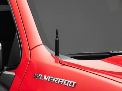 Black 50 Cal Bullet Style Truck Antenna Replacement fits for 1999-2020 Chevrolet Silverado and GMC Trucks Pure Copper