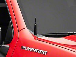 50 Cal Bullet Antenna; Black (99-22 Silverado 1500)