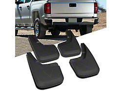 Molded Front and Rear Mud Flaps (14-18 Silverado 1500)