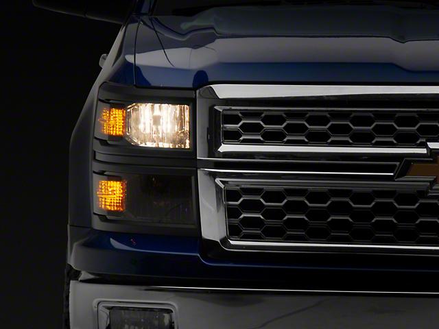 Version 2 Euro Headlights; Chrome Housing; Smoked Lens (14-15 Silverado 1500)