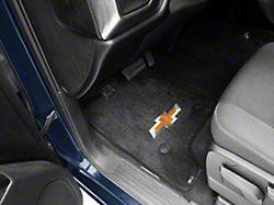 Lloyd Ultimat Front Floor Mats with Bowtie Logo; Black (14-18 Silverado 1500 Double Cab, Crew Cab)