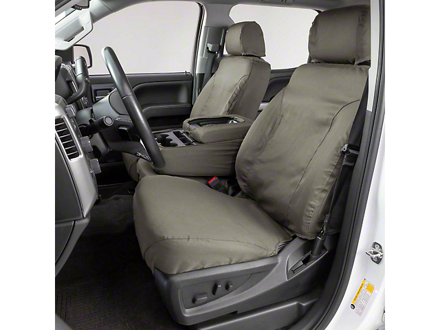 Covercraft SeatSaver Front Seat Covers; Misty Gray (16-21 Tacoma w/ Bucket Seats)