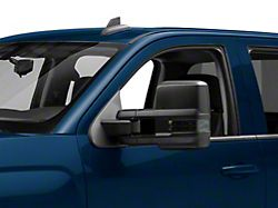 Powered Heated Towing Mirrors with Ambient Temp Sensor and Smoked LED Turn Signals; Black (14-16 Silverado 1500)
