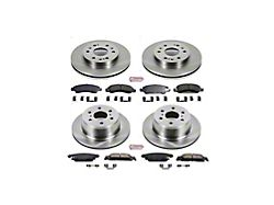 Power Stop OE Replacement Brake Rotor and Pad Kit; Front and Rear (14-18 Silverado 1500)