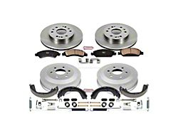 Power Stop OE Replacement 6-Lug Brake Rotor and Pad Kit; Front and Rear (09-13 Silverado 1500 w/ Rear Drum Brakes)
