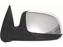 Powered Non-Heated Foldaway Side Mirror; Driver Side; Chrome Cap; Replacement Part (99-02 Sierra 1500)