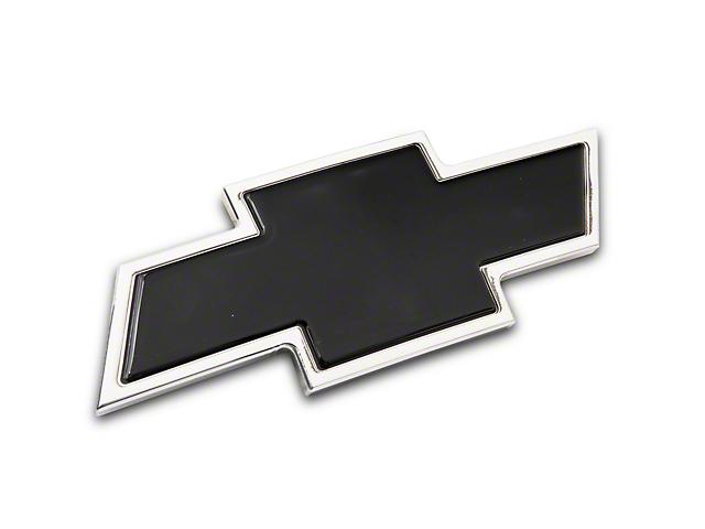Chevy Bowtie Grille Emblem; Polished and Black (07-13 Silverado 1500)