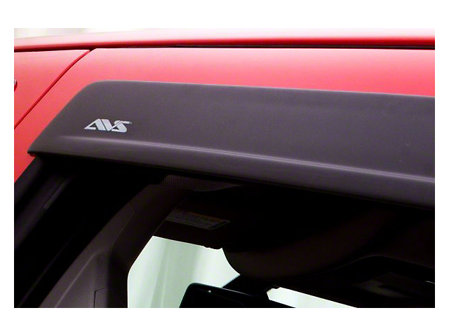 Low Profile Ventvisor Window Deflectors; Front and Rear; Matte Black (19-21 Sierra 1500 Double Cab)