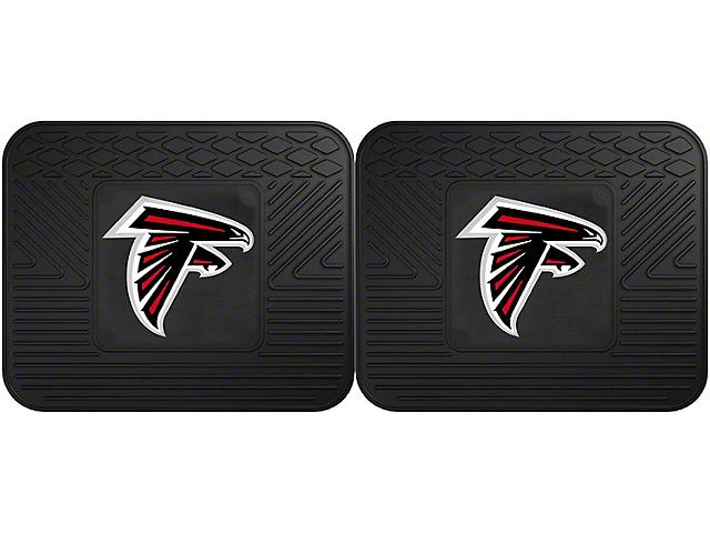 Molded Rear Floor Mats with Atlanta Falcons Logo (Universal Fitment)