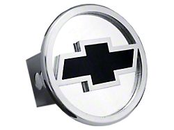 Chevrolet Hitch Cover; Chrome/Black Fill (Universal; Some Adaptation May Be Required)