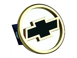 Chevrolet Hitch Cover; Gold/Black Fill (Universal; Some Adaptation May Be Required)