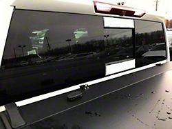 Sliding Rear Window Trim Accents; With Sliding Rear Window (19-20 Silverado 1500)