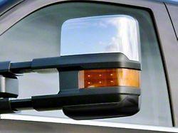Towing Mirror Covers; Chrome (14-18 Silverado 1500)