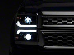 Morimoto XB LED Headlights; Chrome Housing; Clear Lens (14-15 Silverado 1500)