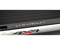 CHEVROLET Bed Rail Letter Inserts; Gloss White (19-22 Silverado 1500)