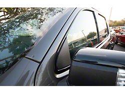 Door A-Pillar Accent Trim; Raw Carbon Fiber (19-22 Silverado 1500)