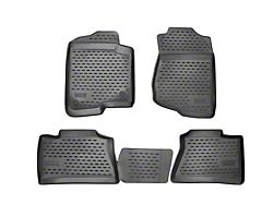 Profile Front and Second Row Floor Liners; Black (19-21 Sierra 1500 Double Cab, Crew Cab)